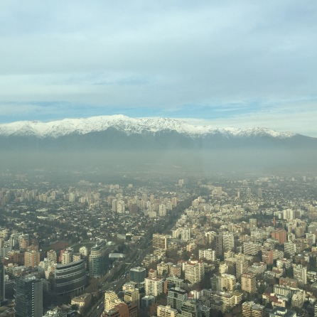 The Andes look like a giant wave