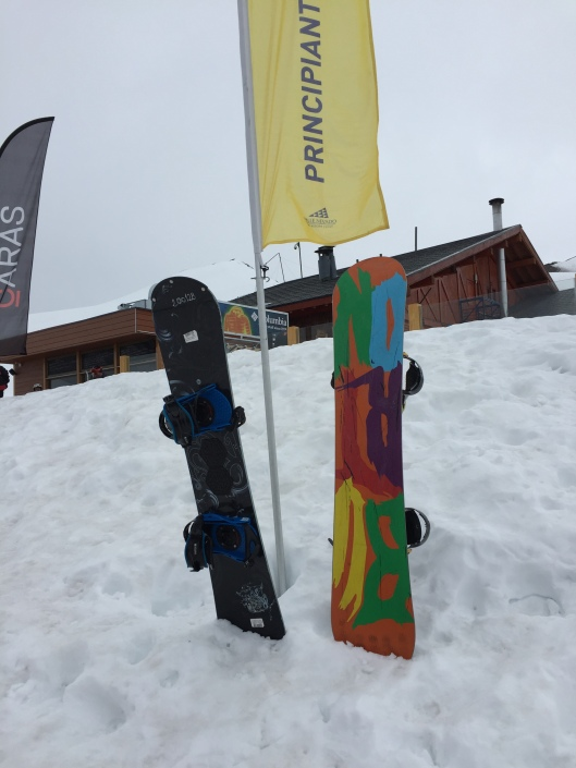 "Snowboard in Spanish is ""el snowboard"""