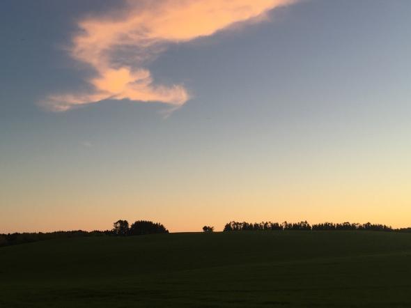 Sunset over some plains