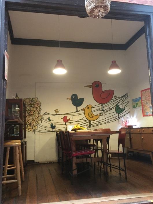 Dining room (a lot of bird art around here)