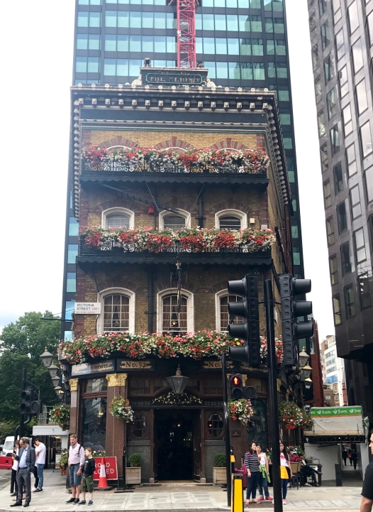 A cute little British building