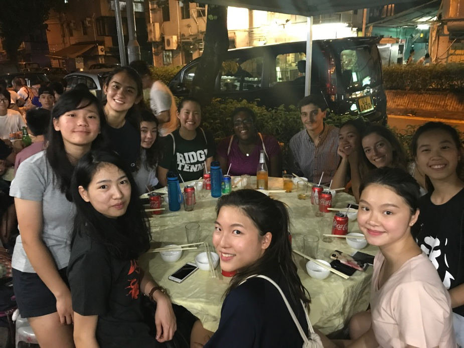Hong Kong, Hang Hau Village, Pierce, Meghan, Track Team Welcome Dinner
