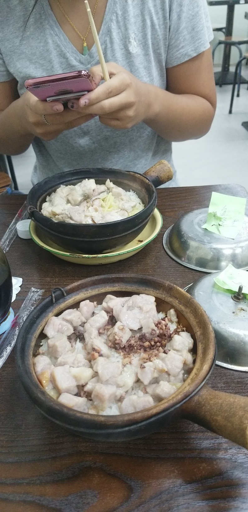 Hing Kee Claypot Rice Restaurant: Rice dish with octopus and chicken