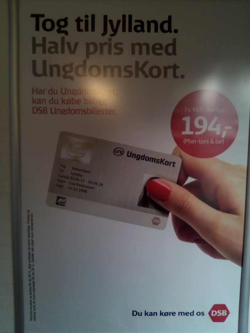 One of many Danish advertisements I still cannot read