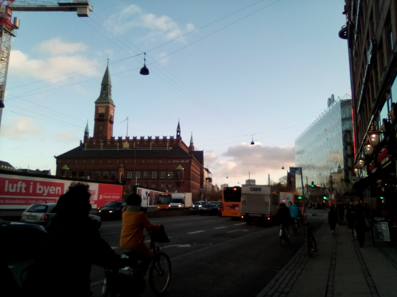 Downtown Copenhagen (if you look closely, there there are more Danish words I still need to learn here)