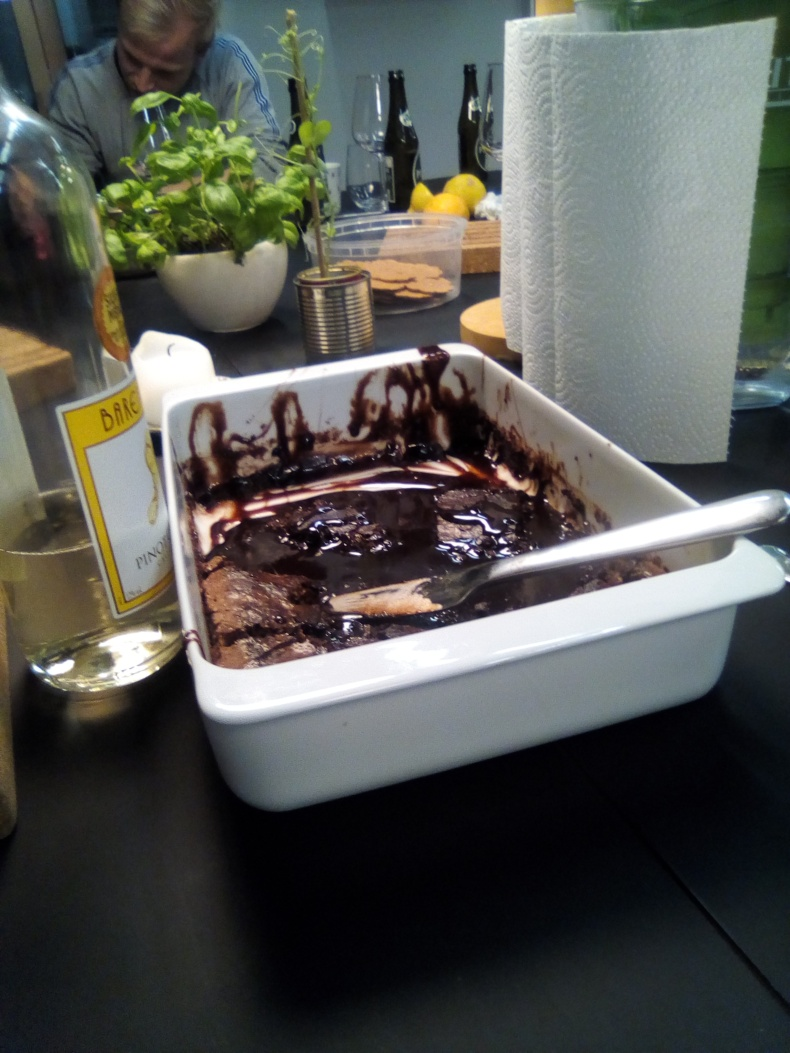 Thanksgiving brownie soup :)