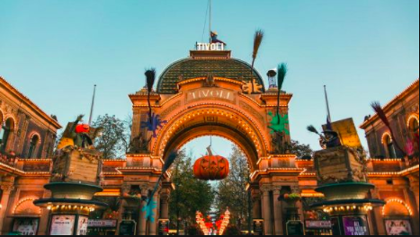 Entrance to Tivoli Gardens during the Halloween Season. visitdenmark.co.uk