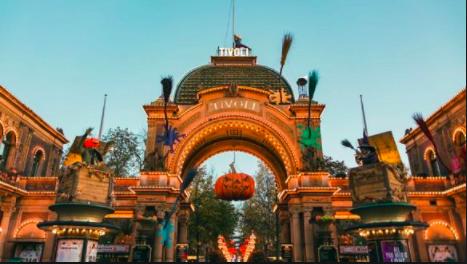 Entrance to Tivoli Gardens during the Halloween Season. visitdenmark.co.uk
