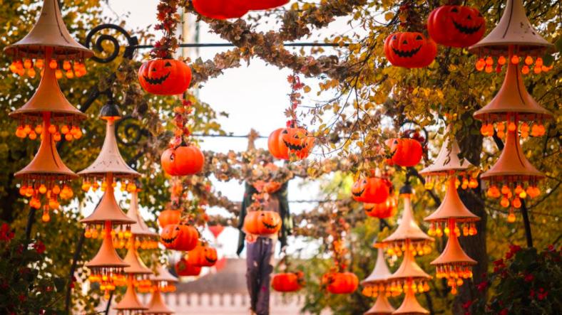Halloween decorations in Tivoli Gardens. visitdenmark.co.uk