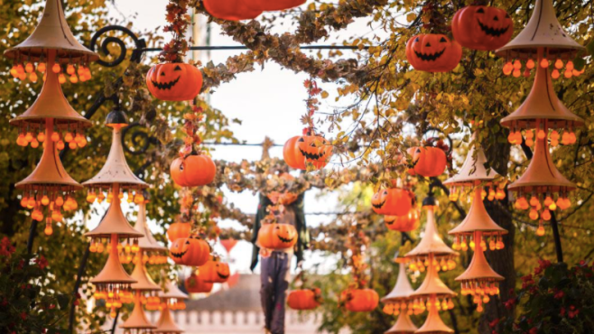 Halloween decorations in Tivoli Gardens. visitdenmark.co.uk