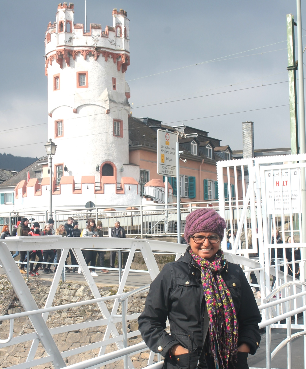 Me in front of the Eagle Tower