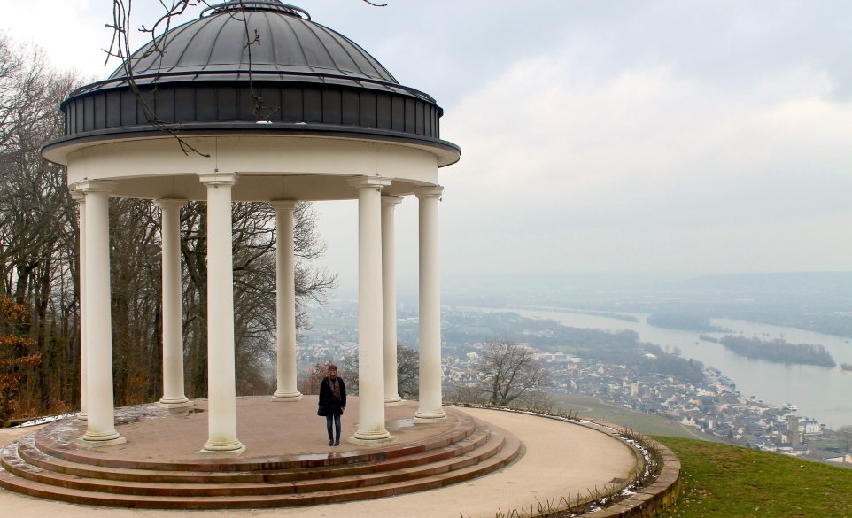 Me at the Niederwald Temple in Rudesheim, Germany