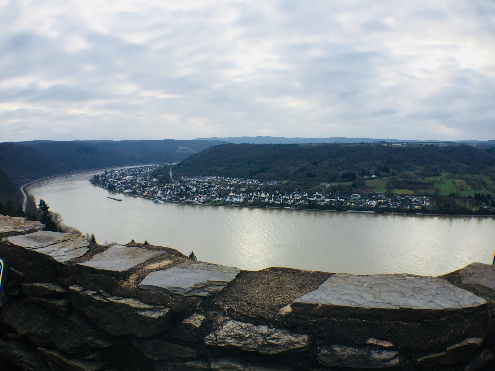 View of the Rhine River from the garden