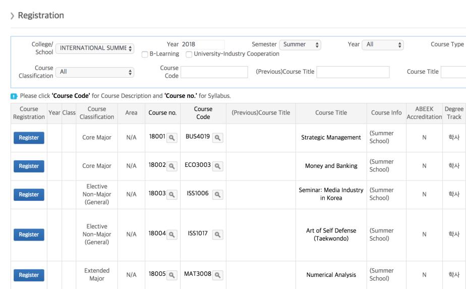 predepart logistics screenshot class registratin