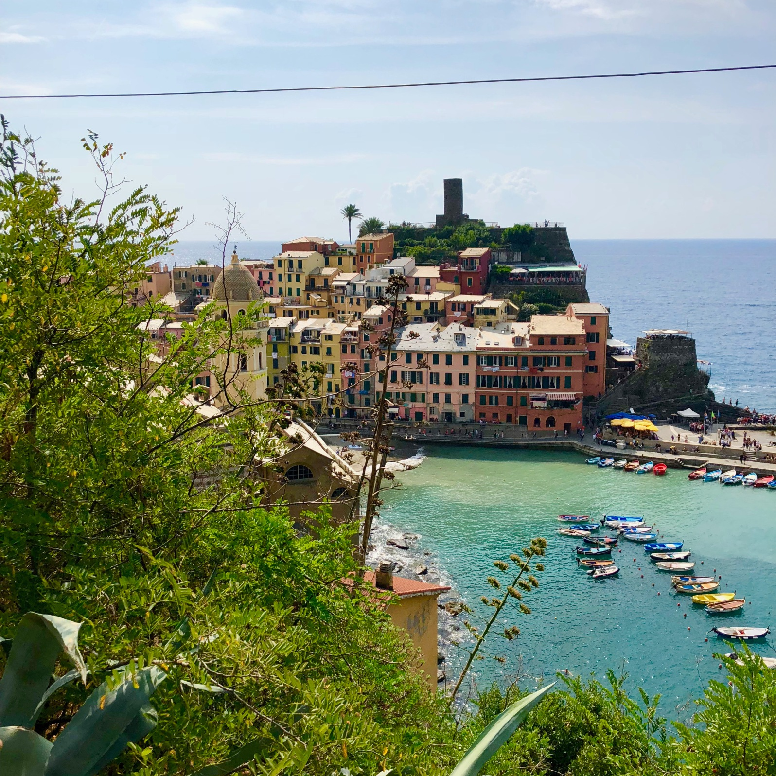 Looking back at Vernazza.