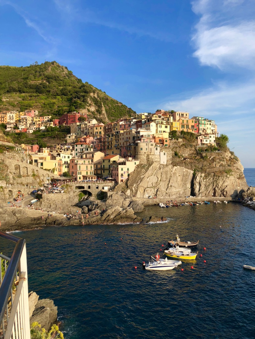 Manarola, perched on a cliff.