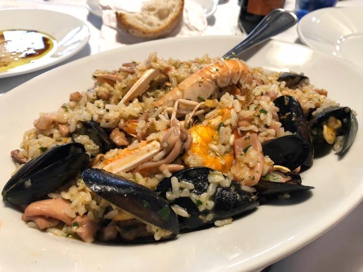 My dish, Risotto alla Frutta di Mare.
