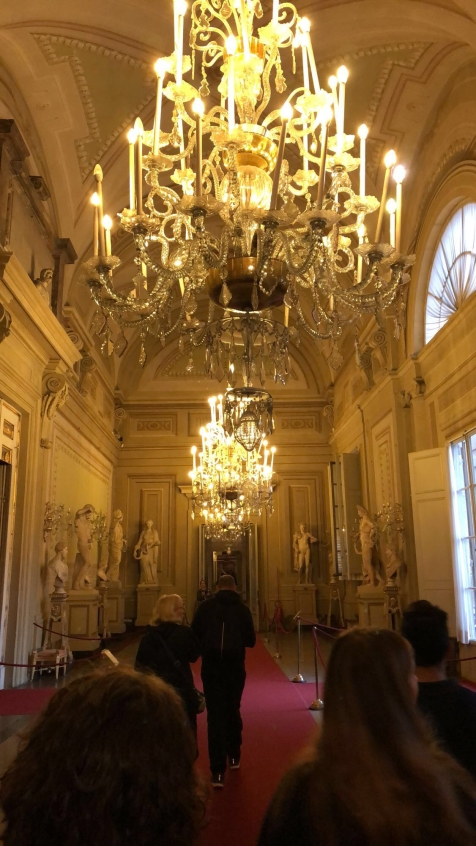 The main Palantine Gallery inside the Palazzo Pitti