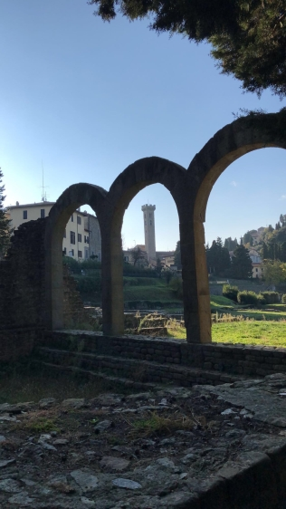 Remains of the bath house in Fiesole