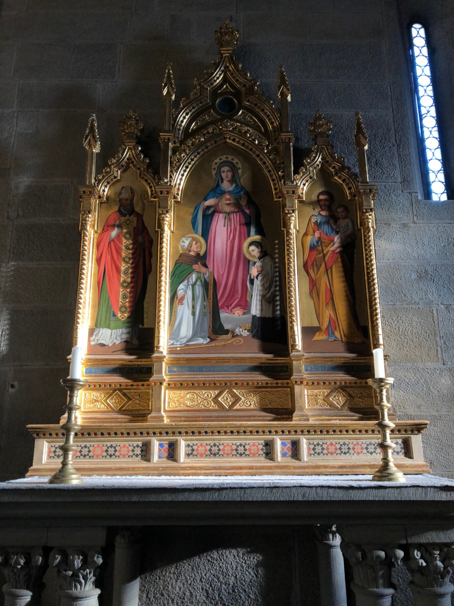 A triptych inside the Cathedral of St. Romulus
