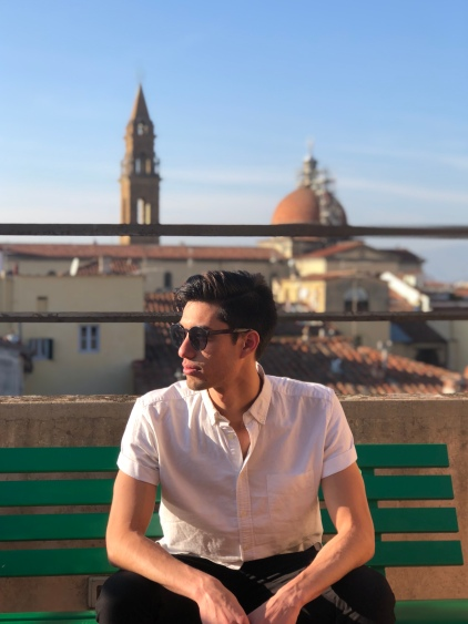On the terrace of my school with the Florence skyline