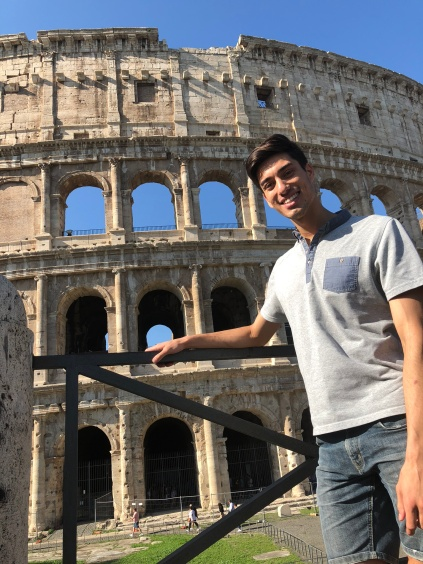 Me at the Coliseum in Rome