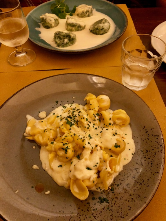 What's not to enjoy when eating in Italy?