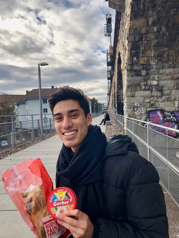 Enjoying a snack on top of the Viaduct